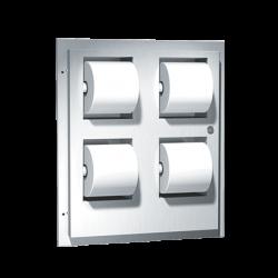 ASI 048234 Multi-Roll (4) Toilet Tissue Dispenser – Recessed