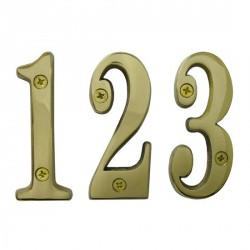 """Cal-Royal SBN4 Solid Brass Numbers 0-9 4"""""""