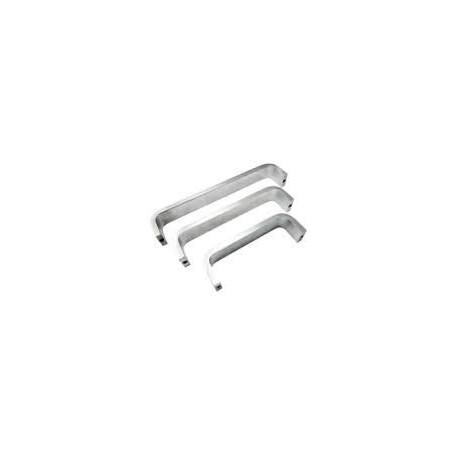 """Cal-Royal PUL208 Solid Bar Pull Handle 3/8"""" x 1 1/4"""", 8"""" CTC"""