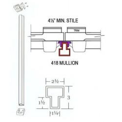 Cal-Royal 418-BRACKETS Top and Bottom Retaining Brackets for 418 Mullion