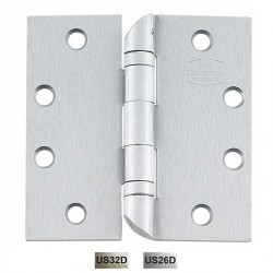 "Cal-Royal HOSBB31 Hospital Tip Hinges with Ball Bearing 4 1/2"" x 4 1/2"", 0.134"" Gauge"