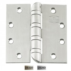 "Cal-Royal HOSBB5200 Hospital Tip Hinges with Ball Bearing 4 1/2"" x 4 1/2"", 0.180 Gauge"