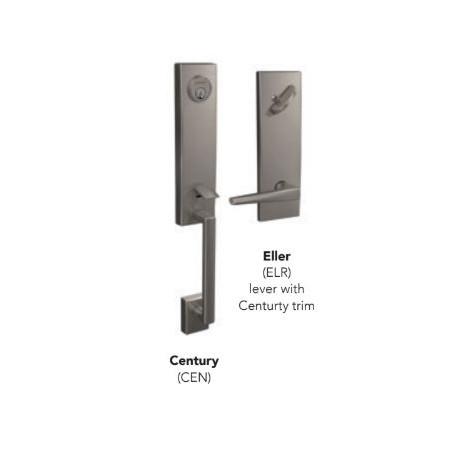 Shlage FCT series Century Handleset Single Cylinder