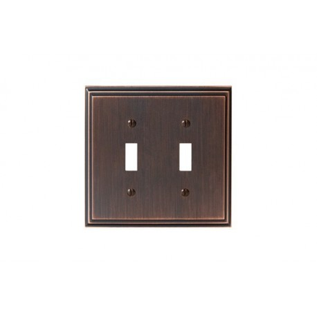 Amerock BP36515 Mulholland 2 Toggle Wall Plate, Oil-Rubbed Bronze Mulholland
