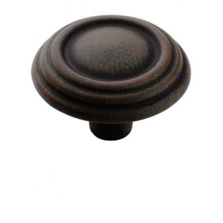 Amerock BP1307 Round Knob Brass and Sterling Traditions