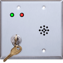 Deltrex D222 Series Bell Cylinder Door Violation Alarm Key Switch Mounted on a 2-Gang plate