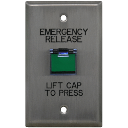 Deltrex 130 Series Emergency Release- Non-illuminated Square / Rectangular Push Button