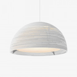 Graypants GP-1251 Dome Pendant White Scraplights