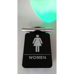Heads Up Lock Elegant Model, Restroom Indicator Women Sign, Complete Kit