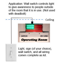 Heads Up Lock Light Switch Model, Light, Sign (of your choice), Wall Switch, And All Wiring Comes Complete As Kit