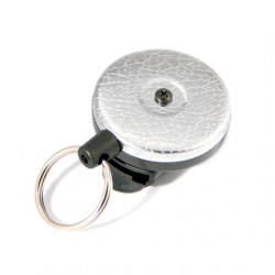 Key-Bak 0484-821 Original Retractable Key Chain, Textured Chrome