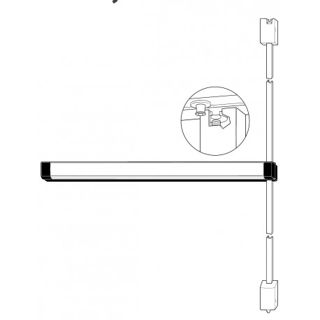 Adams Rite 3100 & 8100 Series Fire-Rated Surface Vertical Rod Exit Device