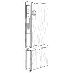 Adams Rite MS1837 Series MSĀ® Two-Point Deadlock for Wooden Door