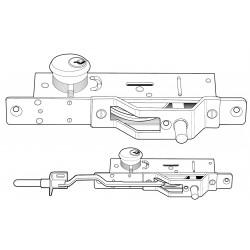 Adams Rite MS1861 Series Bottom Rail Deadbolt for Ultra-Narrow Stile Doors, Zinc Plated Steel
