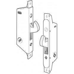 Adams Rite MS1847 Series MS Deadlock / Deadlatch for Ultra-Narrow Stile Siding Doors in Satin Stainless