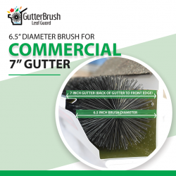 "GutterBrush™ Commercial 7-IN, Brush Diameter 6.5"" Leaf Guard"