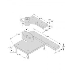 """ABH Hardware L0117 Pivot Set, 3/4"""" Offset, For Use on Lead-lined Door"""