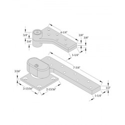 """ABH Hardware L0147 Pivot Set, 3/4"""" Offset, For Use on Lead-lined Door"""