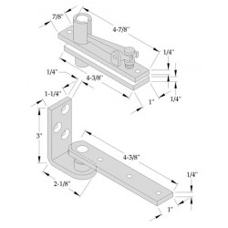 ABH Hardware 0327 Center Hung Pivot Set (Non-Handed)