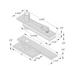 ABH Hardware 0370 Center Hung Pivot Set (Non-Handed)
