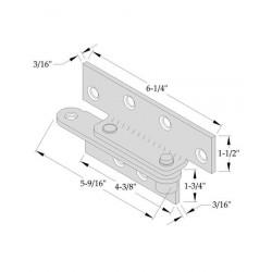 ABH Hardware 923-US2G Reinforcing Pivot, Zinc Plated