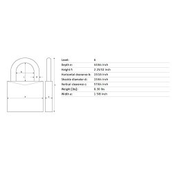 """Abus 160/40 Steel/Chrome Dial Resettable w/2"""" Shackle"""