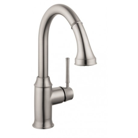 Hansgrohe 4216800 Talis C 2-Spray Prep Kitchen Faucet, Pull-Down