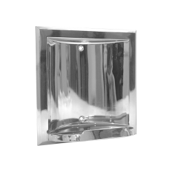 ASI 0404-Z Soap Dish – Recessed, Chrome Plated Zamak