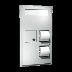 ASI 0482 Toilet Seat Cover & Toilet Tissue Dispensers W/ Napkin Disposal
