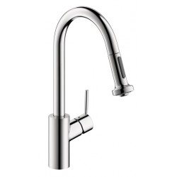 Hansgrohe 4286000 Talis S 2-Spray Prep Kitchen Faucet, Pull-Down