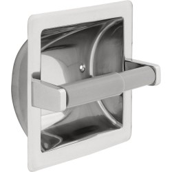 Delta 45070-ST Stainless Steel Recessed Paper Holder with Plastic Roller in Bright Stainless - Chrome appearance