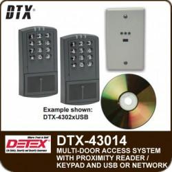 Detex DTX-43014 Access Control System for fourteen doors