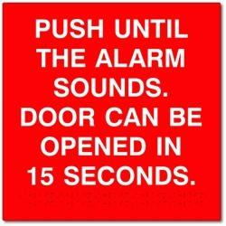 Detex ADVANTEX Push Until Alarm Sounds- Door Can Be Opened In 15/30 Seconds