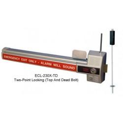 Detex ECL-230X-TD / ECL-230X-TB SERIES Alarmed Dead Bolt Panic Hardware 2 Point Locks