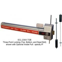 Detex ECL-230X-TDB Alarmed Dead Bolt Panic Hardware 3 Point Lock