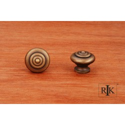 RKI CK 9307 Solid Knob with Circle @ Top