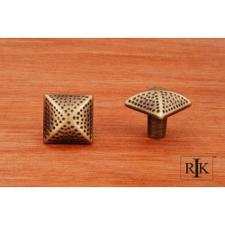 RKI CK 9311 Square Knob with Divet Indents