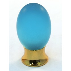 Cal Crystal 101-CM Athens Collection Polyester Colored Oval Knob with Solid Brass Base