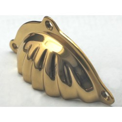 Cal Crystal C1830 Brass Bin Scalloped Brass Bin Pull