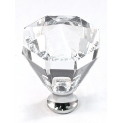 Cal Crystal M13/32 Crystal Octagon Knob