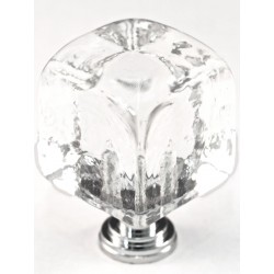 Cal Crystal ARTX-CLC Glass Cube Cabinet Knob