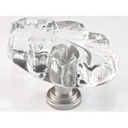 Cal Crystal ARTX-L2C Glass Leaf Cabinet Knob