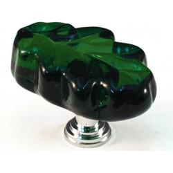 Cal Crystal ARTX-L2G Glass Leaf Cabinet Knob