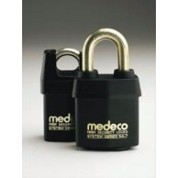 "54*715 Medeco No. 54 High Security Indoor / Outdoor Padlock with 7/16"" Shackle Diameter, Key-In-Knob Cylinder"