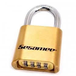 K436 CCL Sesamee Resettable Combination Brass Bottom Padlock Carded*