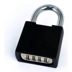 CCL K500, 436/437 Series 4-Dial Resettable Padlock, Diecast with Brass Internal Parts, Shackle- 3/4