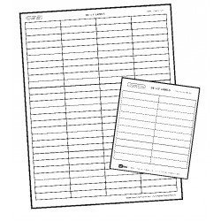 """1966 Lucky Line File-A-Key Base Labels 3/8"""" x 1"""" - White (12 pack)"""