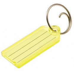 123 Lucky Line Key Tag with Tang Ring