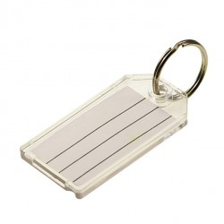 204 Lucky Line Key Tag with Split Ring - Clear