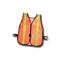 Mutual Industries Non-ANSI Reflective Heavy Weight Safety Vest with High-Gloss Stripes - Lime Reflective